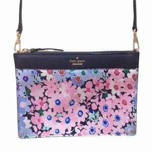 HP🎉 Kate Spade Blue Pink Floral Crossbody Purse